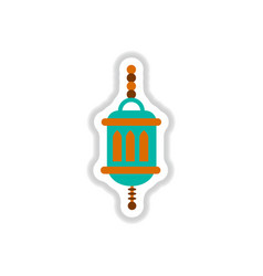 label icon on design sticker collection arab vector image