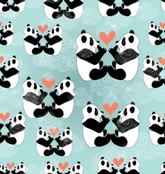Texture panda lovers vector