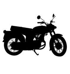 Silhouette of vintage motorcycle vector