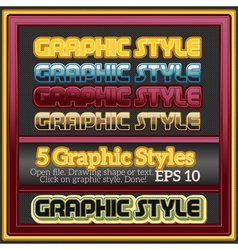 Set of decorative graphic styles for design vector