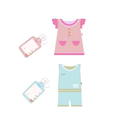 collection of baby and children clothes vector image