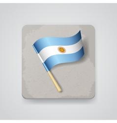 Argentina flag icon vector