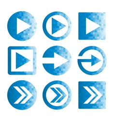 Pixel arrow icon set vector