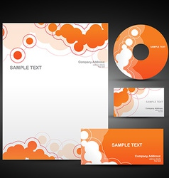 orange template set vector image