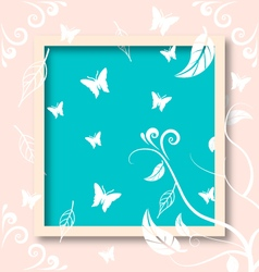 Natural flower and butterfly vector