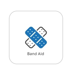 Band aid and medical services icon flat design vector