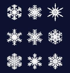 White snowflakes vector