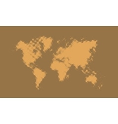 Abstract halftone political world map vector