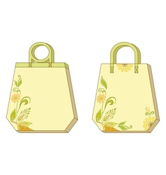 Tags with floral pattern vector