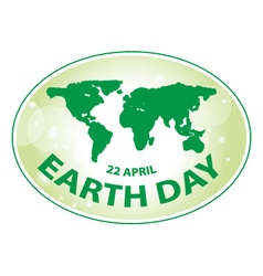 Earth day green grunge map banner 2 vector