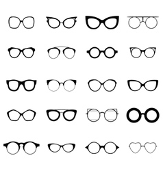 Collection of various glasses to be worn by women vector