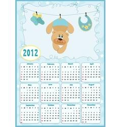 Babys calendar for 2012 vector image