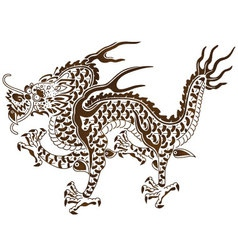 The responsive dragon of chinese myth vector