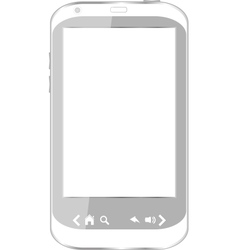 beautiful white smartphone vector image vector image