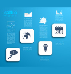 business step infographic concept vector image vector image