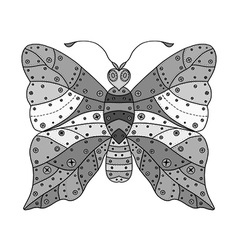 Butterfly icon drawing vector