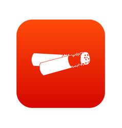 cigarette butt icon digital red vector image