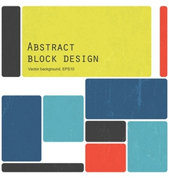 colorful blocks design vector image