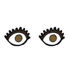 Comic cartoon eyes vector