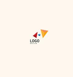creative logo multicolored geometric crystals vector image vector image