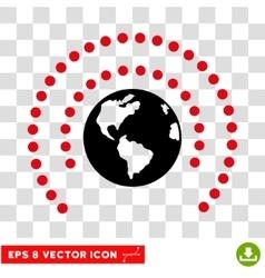 Earth Sphere Shield Eps Icon vector image