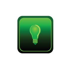 eco bulb sticker green vector image vector image
