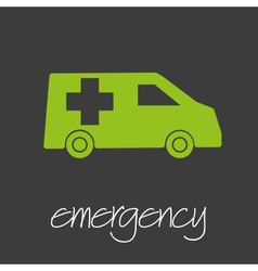 emergency car design banner and background eps10 vector image vector image