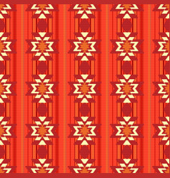 ethnic ornamental pattern in red vector image