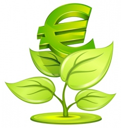 euro plant vector image