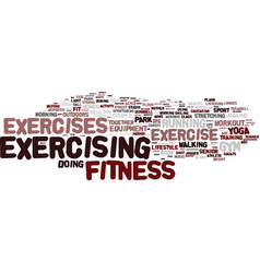 exercises word cloud concept vector image vector image
