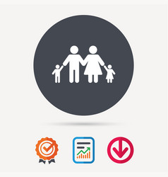 family icon father mother and child sign vector image vector image