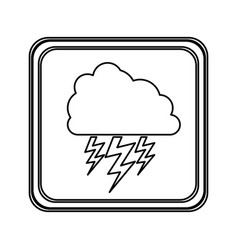 figure emblem cloud ray icon vector image