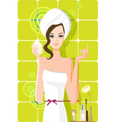 flow girl vector image vector image
