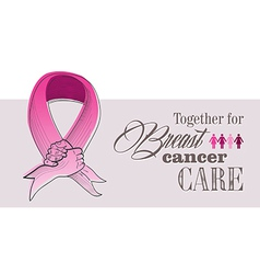 Global breast cancer awareness concept eps10 file vector