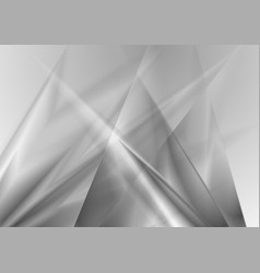 Grey glossy silver metal gradient background vector