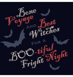 humorous Halloween greetings vector image vector image