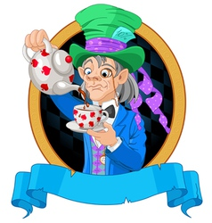 Mad Hatter design vector image