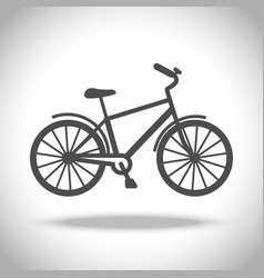 Man bike icon vector