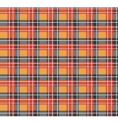 Orange plaid fabric vector image