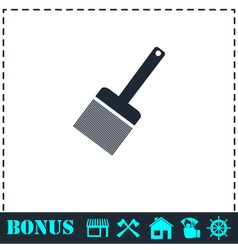 Putty knife icon flat vector image