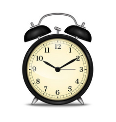 Realistic alarm clock vector