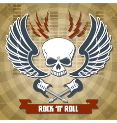 Retro rock background vector image vector image