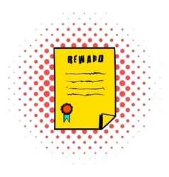 Reward icon comics style vector