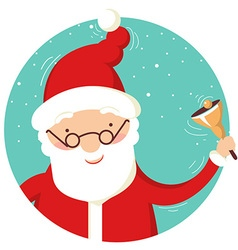 Santa claus portrait with christmas bell vector