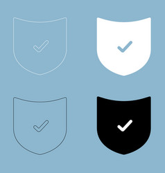 shield the black and white color icon vector image vector image