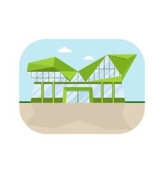 shopping center lowpolly facade vector image