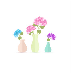 vase of flowers vector image vector image