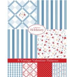 Vintage Patterns set vector image vector image