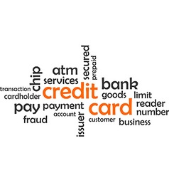 Word cloud credit card vector