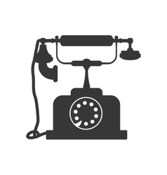 Phone technology retro vintage icon vector